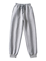 cheap -Women's Sporty Basic Comfort Daily Going out Jogger Sweatpants Pants Solid Colored Full Length Pocket Drawstring Gray