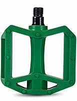 cheap -plastic bicycle pedals for city commuter bike 1/2 inch spindle green
