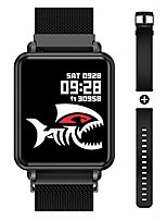 cheap -smart watch full touchscreen smartwatch for women men, ip68 waterproof fitness tracker compatible with iphone andriod, bluetooth pedometer, heart rate and blood pressure monitor