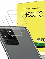 cheap -[4 pack] qhohq camera lens protector for samsung galaxy s20 ultra/s20 ultra 5g, tempered glass ultra thin high definition scratch resistant screen protector (clear)