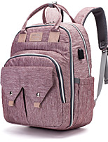 cheap -Unisex Polyester Oxford Diaper Bag Commuter Backpack Large Capacity Zipper Geometric Pattern Daily Professioanl Use Black Grey Black Purple Dusty Rose Light Grey