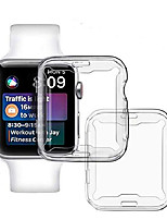 cheap -[2 pack] 40mm clear case compatible for apple watch iwatch series se 6 5 4, full protective case tpu ultra-thin cover