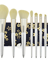 cheap -New 8 Pcs Makeup Brushes Set Pearl White Beauty Makeup Brush Eye Shadow Powder Brush Smooth Soft Brush Hair Makeup Tool Set