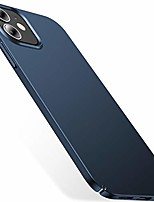 cheap -slim fit compatible with iphone 12 case, designed for iphone 12 pro case 6.1 inch 5g (2020), [ultra thin] silky soft touch hard pc matte finish grip protective phone cover- pacific blue