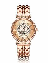 cheap -women's watch fashion crystal diamond wrist watch girls rose gold waterproof quartz stainless steel bracelet watch
