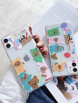 cheap -Case For Apple iPhone 12 / iPhone 12 Mini / iPhone 12 Pro Max Shockproof Back Cover Animal / Cartoon TPU