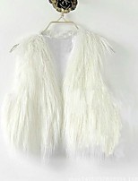 cheap -Sleeveless Shrugs Faux Fur Party / Evening Women's Wrap With Tassel / Solid