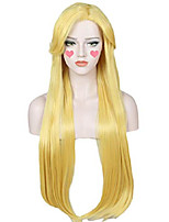cheap -long wig halloween cosplay costume wig for women (yellow blonde)
