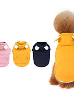 cheap -Dog Coat Hooded Shirts Tracksuit Solid Colored Thick Velvet Casual / Daily Dog Clothes Puppy Clothes Dog Outfits Warm Yellow Blue Pink Costume for Girl and Boy Dog Fleece S M L XL XXL