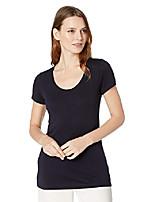 cheap -women's short sleeve scoop neck t-shirt, charcoal heather, x-large