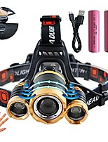 cheap -led headlamp rechargeable zoomable with red light 4 modes for biking camping hunting running 01