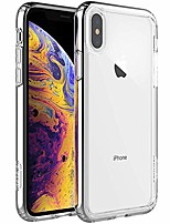 cheap -air bolster iphone x/xs clear case - protective iphone xs/x case shockproof drop protection, tpu bumper, scratch-resistant hard pc back - iphone xs/x cover case compatible - crystal clear