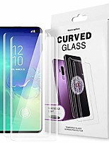 cheap -2 pack for galaxy s10 screen protector tempered glass,9h full 3d curved edge[solution for ultrasonic fingerprint] shield liquid dispersion tech with uv light for samsung galaxy s10 (2 pack)