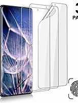 cheap -3 pack galaxy s20 ultra screen protector, [self healing] [easy install & bubble free] [ultrasonic fingerprint support] transparent hd flexible tpu protetive film, for samsung galaxy s20 ultra