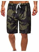 "cheap -mens fashion outdoor shorts camo 9"" inseam drawstring hiking beach trunks casual elastic waist sport gym pants"