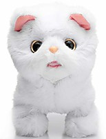 cheap -plush orange tabby cat stuffed animal electronic interactive toy walking, running, meowing and wagging tail kitten 7 inches gifts for kids