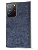 cheap -galaxy note 20 ultra case, salawat slim pu leather vintage shockproof phone case lightweight soft tpu bumper hard pc hybrid protective case for samsung galaxy note 20 ultra 5g 6.9 inch (blue)