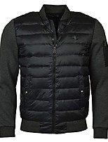 cheap -mens hybrid down performance bomber jacket black s