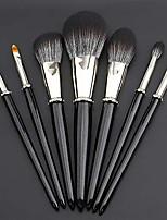 cheap -damm 7 makeup brushes with diamond pearlescent fine flash solid wood brush handle super soft animal hair makeup brush set eye shadow brush