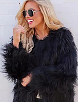 cheap -Long Sleeve Coats / Jackets Faux Fur Party / Evening / Office / Career Bolero With Solid / Fur