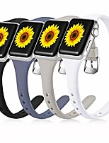 cheap -compatible with apple watch band 40mm 38mm iwatch se & series 6 & series 5 4 3 2 1 for women men, cute durable waterproof soft silicone sport replacement strap, black/white/gray/blue gray, m/l