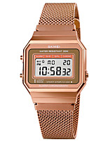 cheap -SKMEI Men's Sport Watch Digital Modern Style Stylish Luxury Water Resistant / Waterproof Digital Rose Gold Black Gold / One Year / Stainless Steel