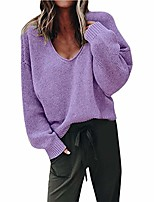 cheap -women's open front long sleeve boho boyfriend knit chunky cardigan sweater purple