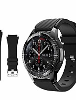 cheap -galaxy watch 3 45mm band - gear s3 frontier & classic/galaxy watch 46mm bands, 22mm universal soft silicone replacement breathable business sport bands straps for men and women(black)