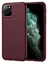 cheap -compatible with iphone 12 mini case burgundy ultra slim soft matte flexible tpu silicone wine red rubber protective cover for grils/women for iphone 12 mini 5.4 inch (burgundy)