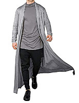 cheap -mens trench coat ruffle shawl collar cardigan jackets open front outerwear cotton long cape poncho for men