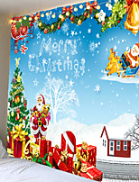 cheap -Christmas Santa Claus Holiday Party Wall Tapestry Art Deco Blanket Curtain Picnic Table Cloth Hanging At Home Bedroom Living Room Dormitory Decoration Christmas Tree Gift