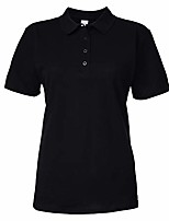 cheap -softstyle womens/ladies short sleeve double pique polo shirt (2xl) (black)