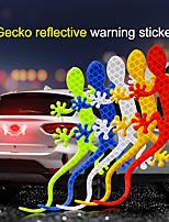 cheap -2Pcs Reflective Car Sticker Safety Warning Mark Reflective Tape Auto Exterior Accessories Gecko Reflective Strip Light Reflector