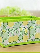 cheap -foldable flower cosmetic storage box jewelry small items desktop organizer,green