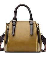 cheap -Women's Bags PU Leather Leather Top Handle Bag Zipper Handbags Daily Black Blue Red Yellow