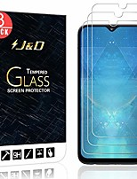cheap -j&d compatible for samsung galaxy a10e glass screen protector (3-pack), not full coverage, tempered glass hd clear ballistic glass screen protector for galaxy a10e screen protector