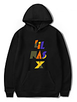 cheap -Inspired by Cosplay Lil Nas X Cosplay Costume Hoodie Polyester / Cotton Blend Letter Printing Hoodie For Men's / Women's