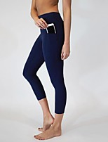 cheap -Women's Casual / Sporty Yoga Breathable Sports Casual Yoga Leggings Sweatpants Pants Solid Color Ankle-Length Pocket Black Wine Dark Gray Navy Blue Gray