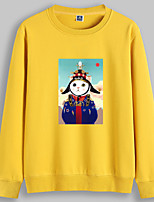 cheap -Women's Pullover Sweatshirt Cat Graphic Cartoon Daily Basic Casual Hoodies Sweatshirts  White Black Red