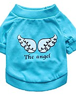 cheap -pet t-shirt, clearance! tloowy summer pet clothes cotton dog cat puppy cute angel wings print vest shirts small medium dog apparel (light blue, s)