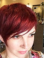 cheap -short hair wig pixie cut wigs for women wig with side bangs synthetic short wigs with bangs nature bob wig heat resistant wig extensions natural straight red layered hair for daily party use