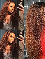 cheap -loose curly synthetic wigs for women ombre blond color with black roots synthetic hair full no lace wigs 24 inch