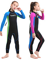 cheap -SLINX Girls' Full Wetsuit 2mm SCR Neoprene Diving Suit Long Sleeve Back Zip - Swimming Diving Surfing Patchwork Spring &  Fall Summer Winter / Stretchy / Kids