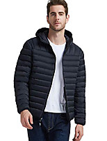 cheap -packable down jacket lightweight down puffer jacket water-resistant winter jacket for men, black, m