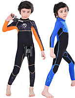 cheap -SLINX Boys' Full Wetsuit 2.5mm Nylon SCR Neoprene Diving Suit Long Sleeve Back Zip - Swimming Diving Surfing Patchwork Spring &  Fall Summer Winter / Stretchy / Kids
