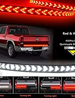 """cheap -49""""led tailgate light-five row red &white led truck tailgate light bar- solid red turn signal, red brake running, white reverse tail light strip for pickup trailer suv rv van jeep car"""
