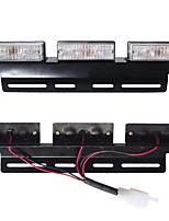 cheap -1Pcs LED Car Flash Strobe Light Waterproof Flashing Mode Light Red And Blue Strobe Light 12V Truck Warning Light One Drag Four-lane Light
