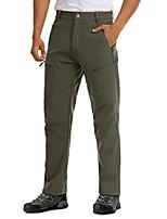 cheap -men's winter waterproof hiking pants outdoor soft shell fleece lined ski snow pants army green