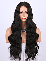 cheap -Synthetic Wig Wavy Middle Part Wig Short Pink / Purple Natural Black #1B Red Synthetic Hair 28 inch Women's Soft Heat Resistant Purple hairjoy