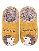 cheap -boys girls slippers kids house slippers toddler warm fluffy animal home shoes(5.5-6.5 toddler,yellow hedgehog)
